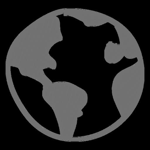 Ícone de esboço de terra Transparent PNG