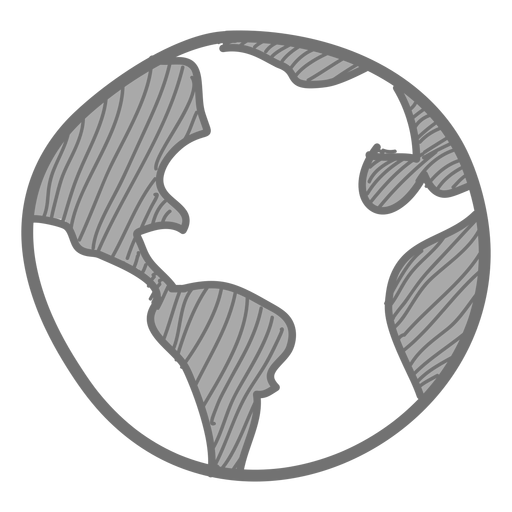 Earth sketch icon Transparent PNG