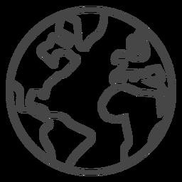 Ícone de traçado de terra