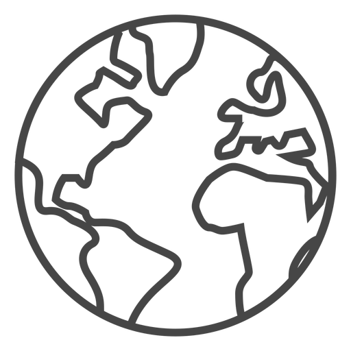 Earth stroke icon Transparent PNG