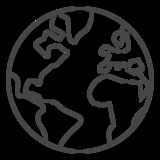 Earth stroke icon