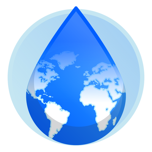 Earth water drop icon Transparent PNG