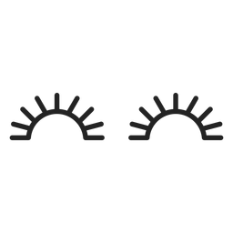 Ícone de olhos fechados emoticon
