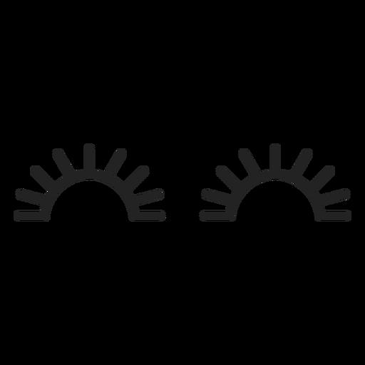 Emoticon geschlossene Augen-Symbol Transparent PNG