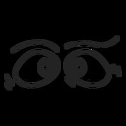 Emoticon de ojos cruzados