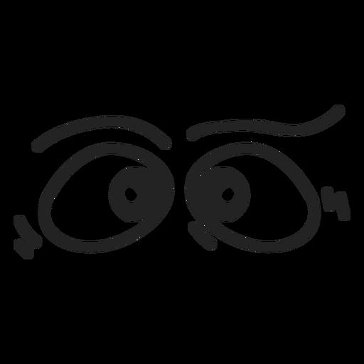 Emoticon cruzou os olhos