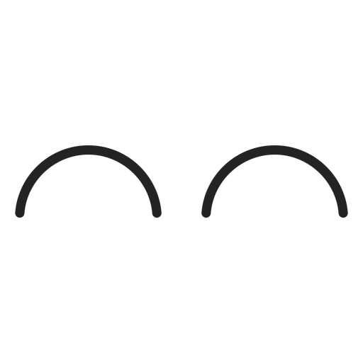 Emoticon curved closed eyes Transparent PNG