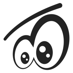 Desenhos animados dos olhos do Emoticon