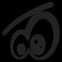 Dibujos animados de ojos de emoticonos