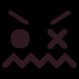 Ícone plana de rosto emoticon