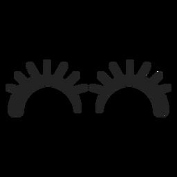 Emoticon cílios olhos