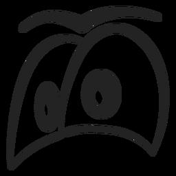 Desenhos animados dos olhos do emoticon da inveja