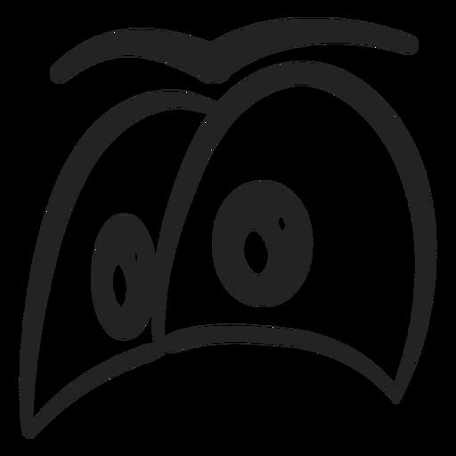 Neid Emoticon mustert Karikatur Transparent PNG