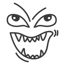 Evil emoticon face cartoon
