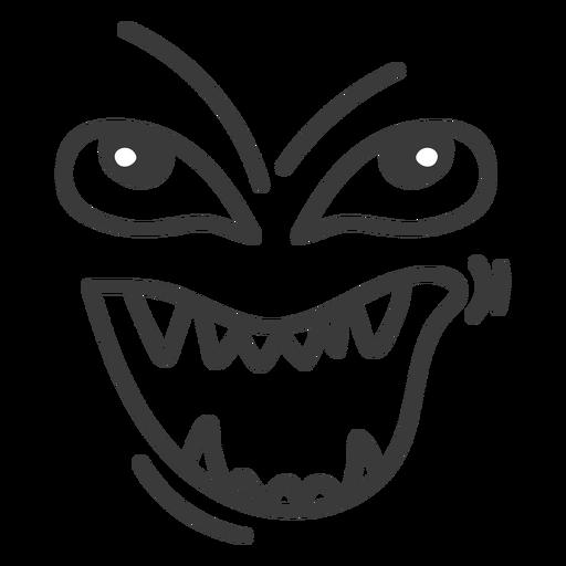 Evil emoticon face cartoon