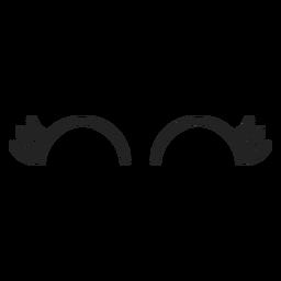 Weiblicher Emoticon schloss die Augen