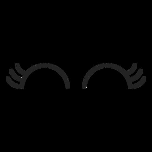 Weiblicher Emoticon schloss die Augen Transparent PNG