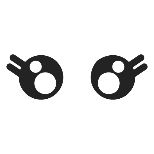 Female kawaii emoticon eyes Transparent PNG