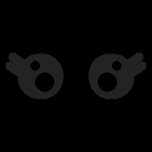 Ojos de mujer kawaii emoticon Transparent PNG