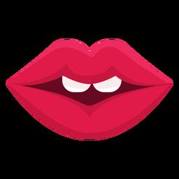 Ícone de boca feminina