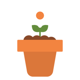 Flower in pot icon