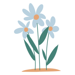 Garden flowers element