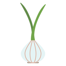 Garlic design element