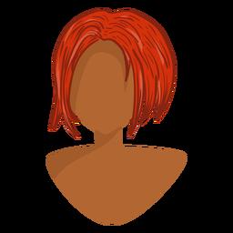 Icono de pelo de jengibre