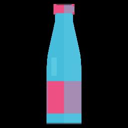 Garrafa de vidro de ícone de água
