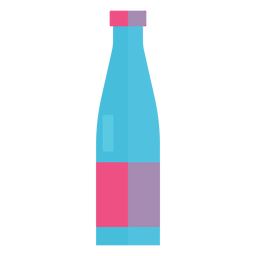 Glass bottle of water icon