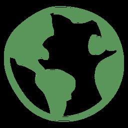 Mão verde terra, desenhado, ícone