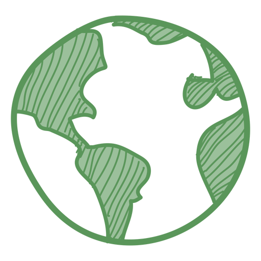 Green earth hand drawn icon Transparent PNG