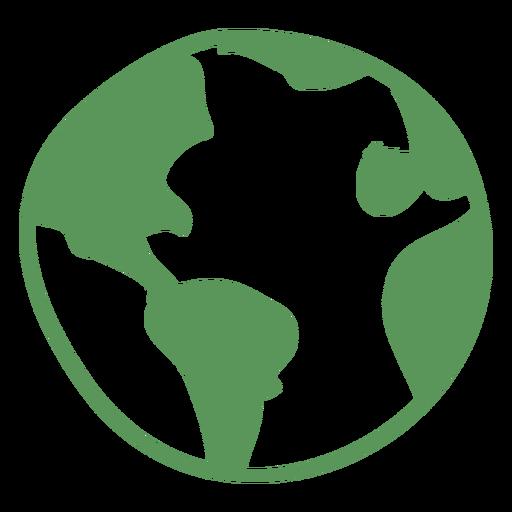 Hand gezeichnete Ikone der grünen Erde Transparent PNG