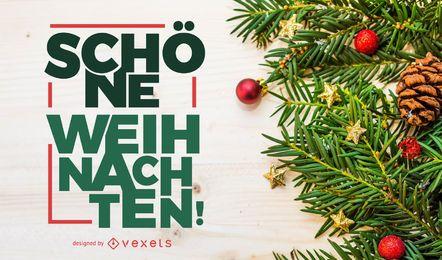 Sch ne Weihnachten diseño de letras