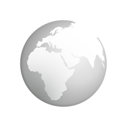 Ícone cinza da terra