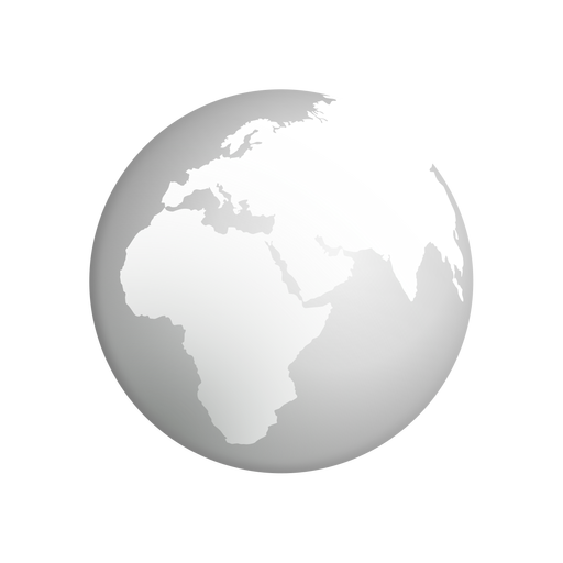 Ícone cinza da terra Transparent PNG