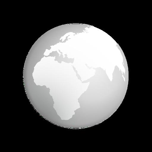 Icono de tierra gris Transparent PNG