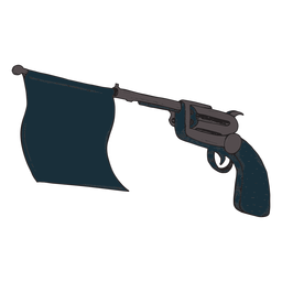 Gun bang flag icon