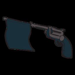 Ícone de bandeira de estrondo de arma