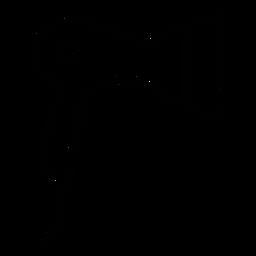 Haartrockner-Symbol