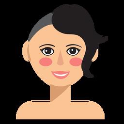 La mitad del pelo afeitado mujer avatar