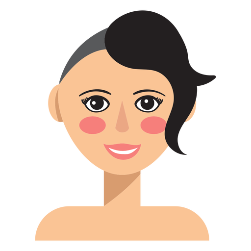 Half shaved hair woman avatar Transparent PNG