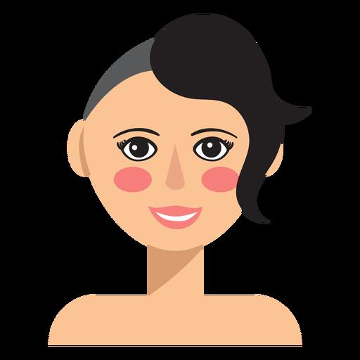 La mitad del pelo afeitado mujer avatar Transparent PNG