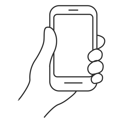 Hand holding smartphone icon Transparent PNG