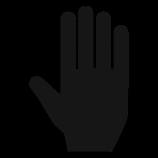 Mano, palma, silueta, icono Transparent PNG