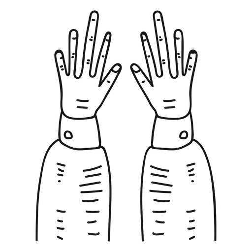 Hands hand drawn icon Transparent PNG
