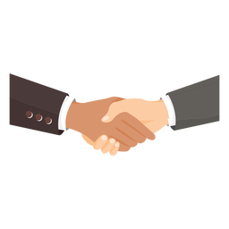 Hands handshaking illustration