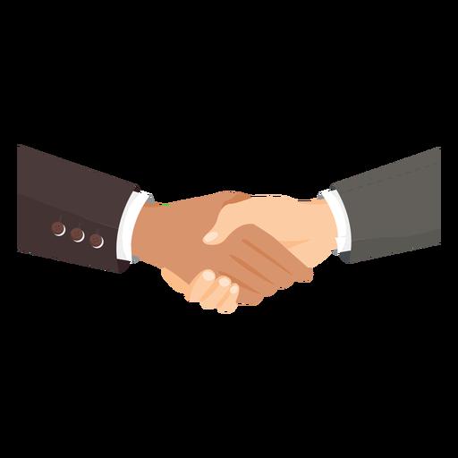 Hands handshaking illustration