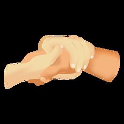Manos que sostienen el icono de la mano