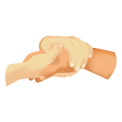 Hands holding hand icon Transparent PNG